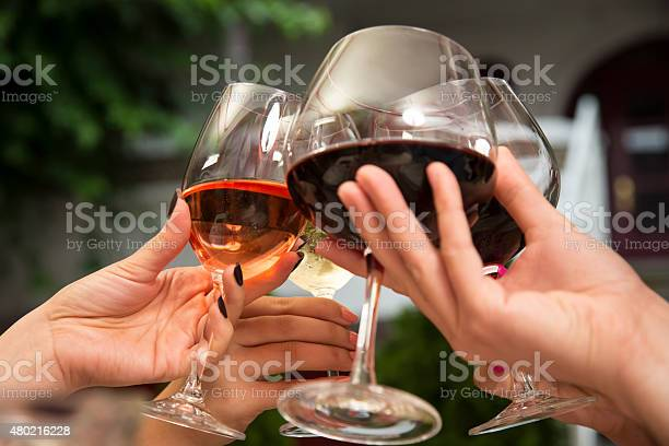 Toasting With Wine Stock Photo - Download Image Now