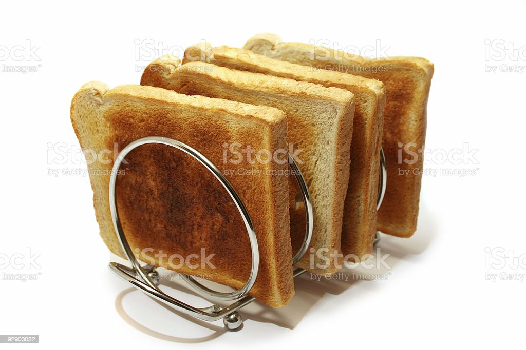 Toast-rack and Toast royalty-free stock photo