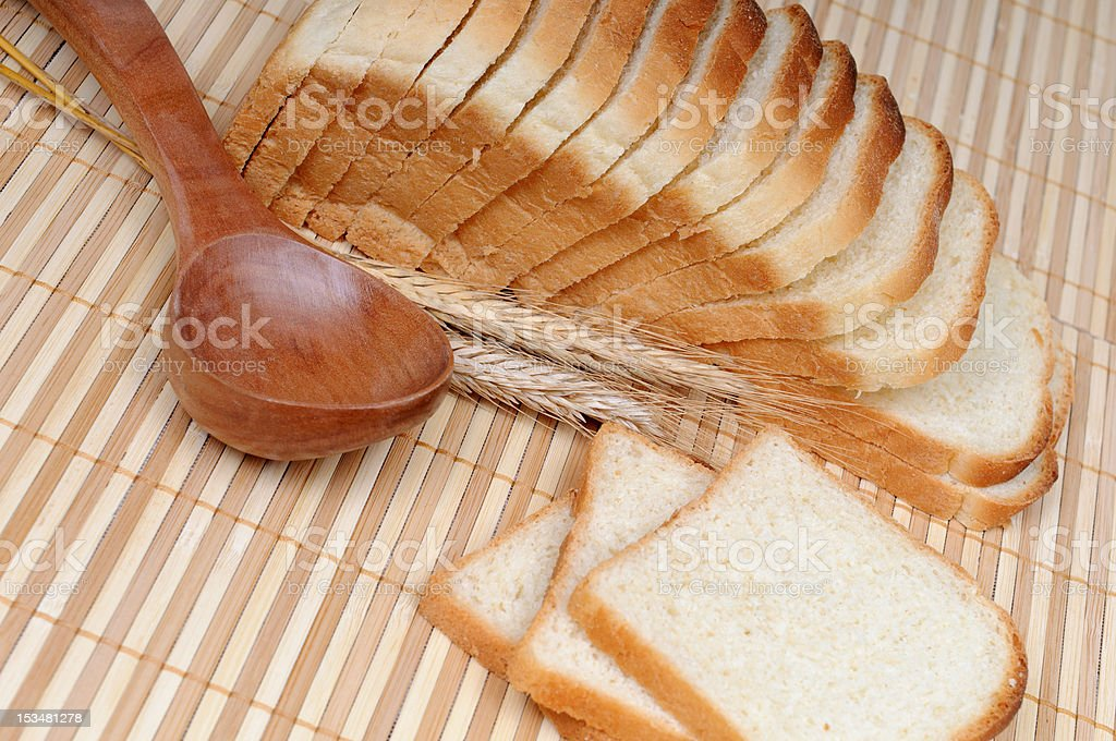 toasts with a spoon and cereals royalty-free stock photo