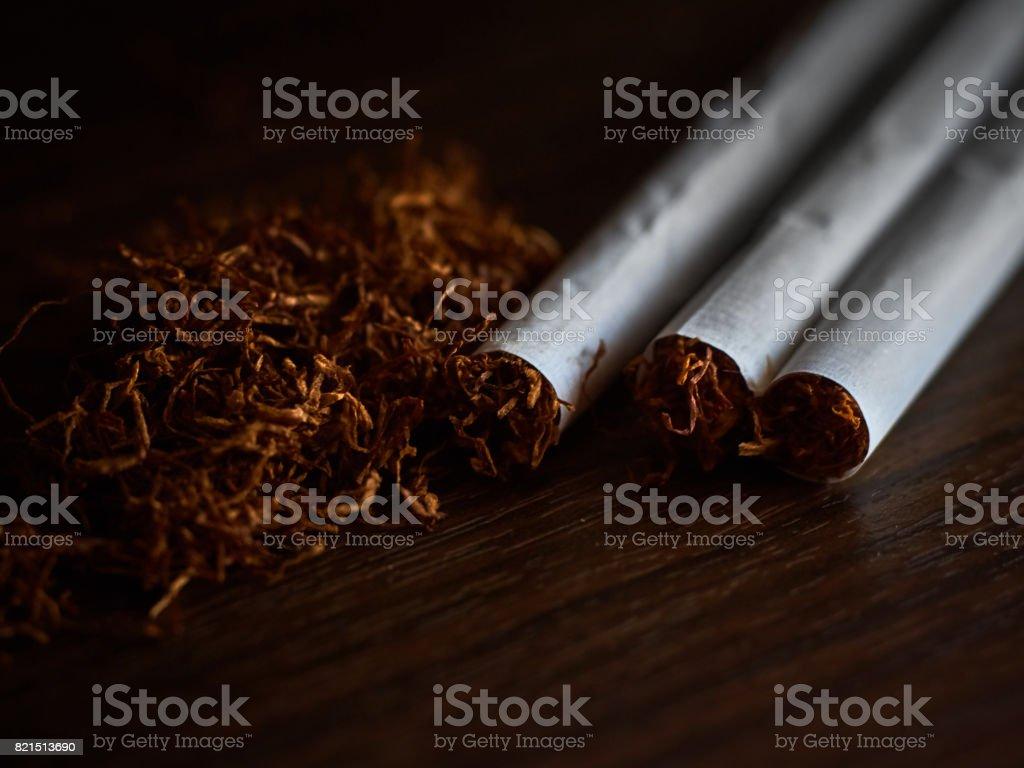 Tobacco and cigarettes stock photo