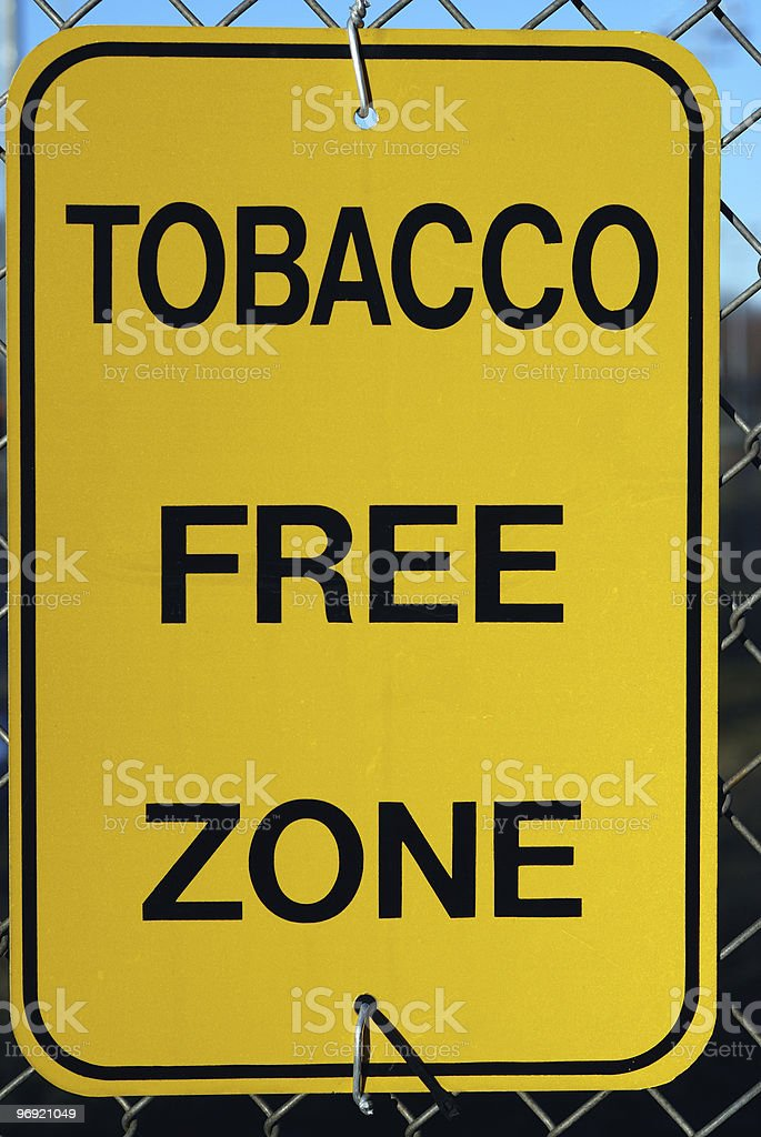 Tobacco Free Zone royalty-free stock photo