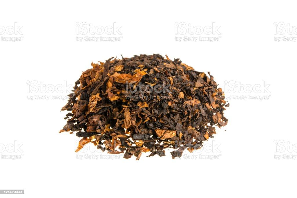 Tobacco on white background stock photo