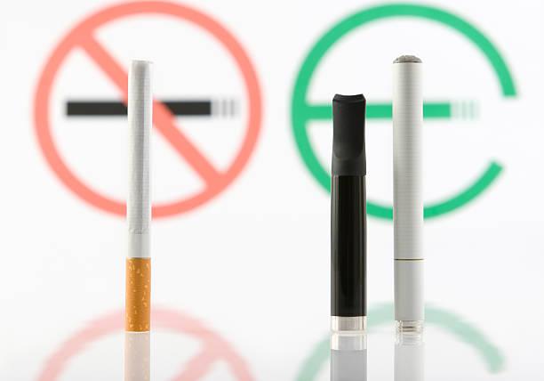 Tabak oder e-cigarette. – Foto