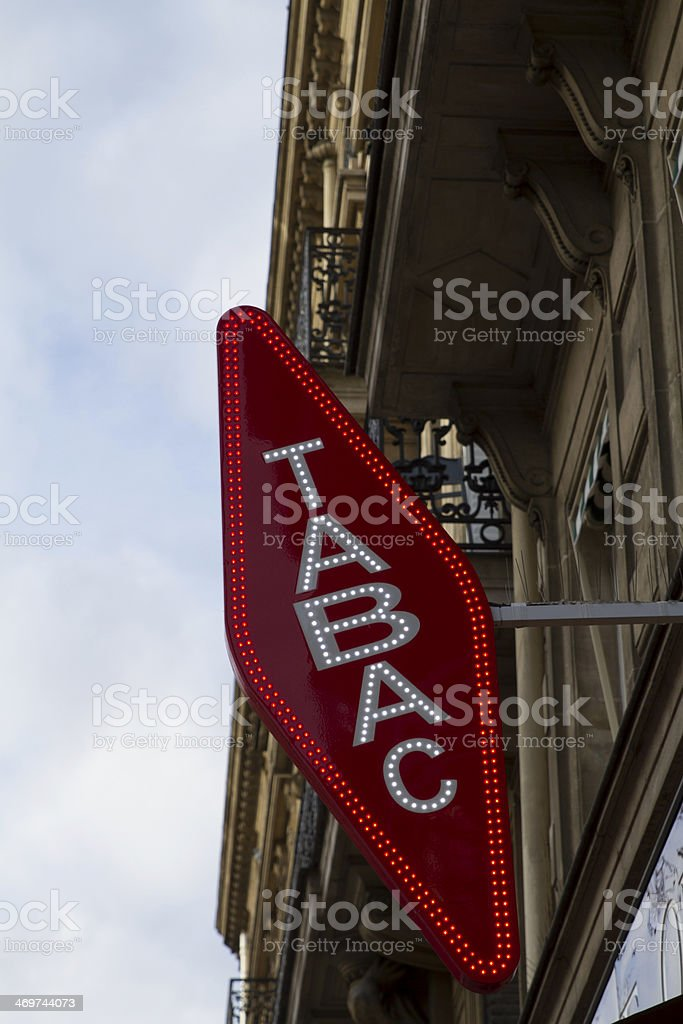 tabac sign stock photo