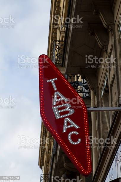 Tobacco Sign Stock Photo - Download Image Now