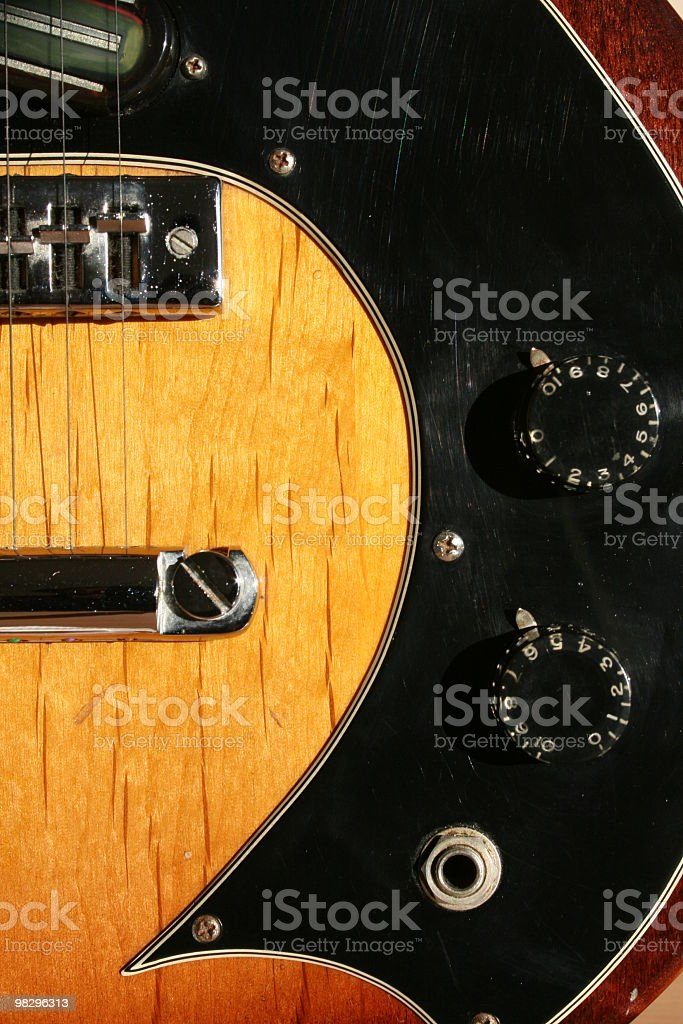 Tobacco Sunburst 1974 Electric Guitar royalty-free stock photo