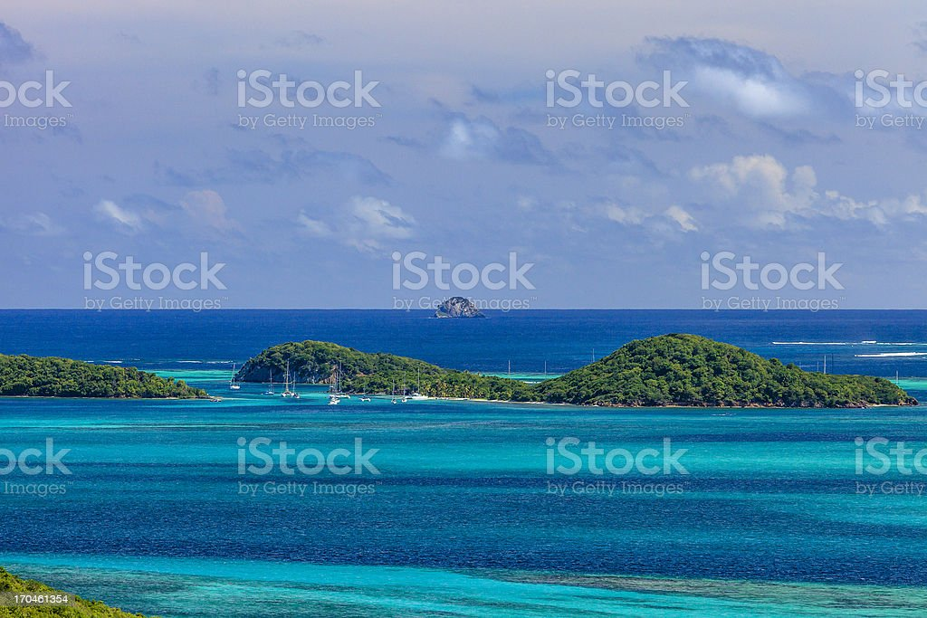 Tobago Cays stock photo