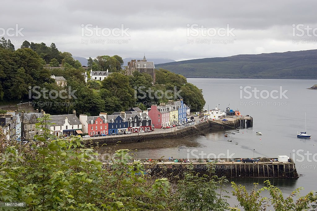 Tobermory harbour, Isle of Mull, Scotland stock photo