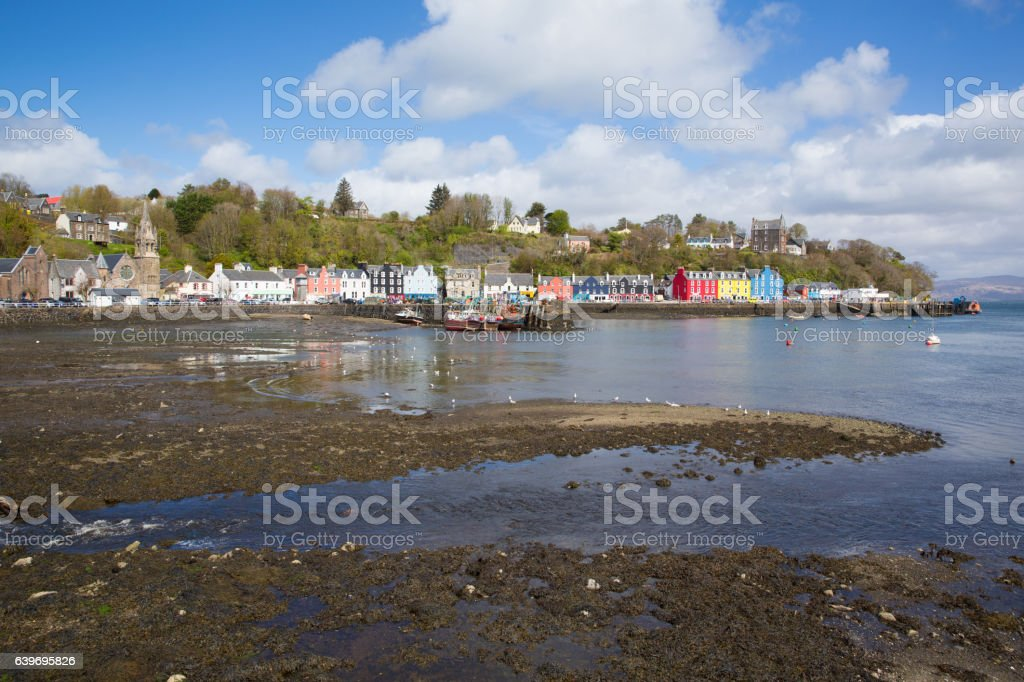 Tobermory Isle of Mull Scotland uk bay and colourful houses stock photo