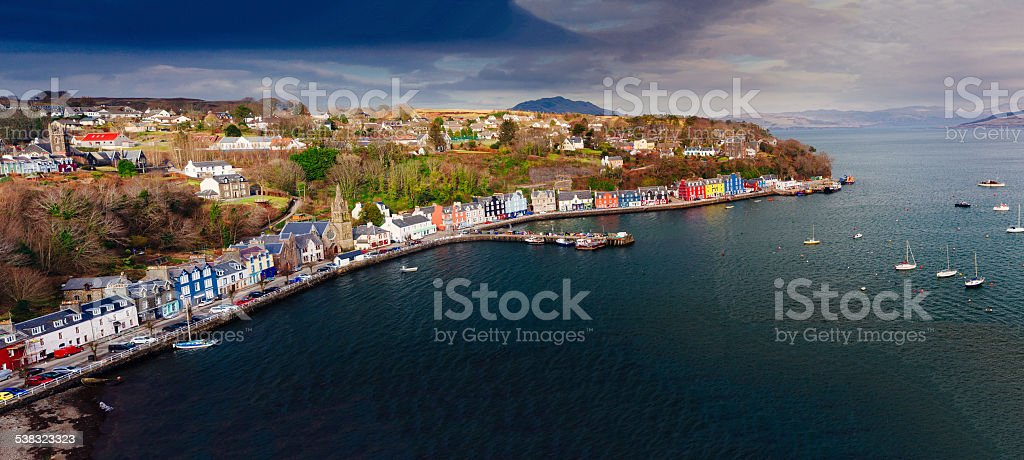 Tobermory, Scotland stock photo