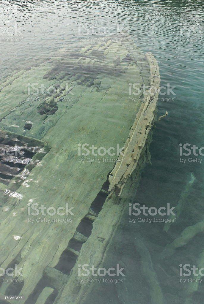 Tobermory Shipwreck - Sweepstakes Schooner stock photo