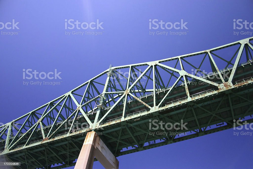 Tobin Bridge, Boston, MA, USA royalty-free stock photo