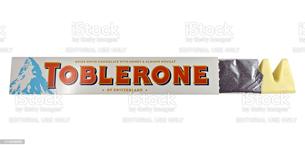 Toblerone Swiss White Chocolate Stock Photo Download Image