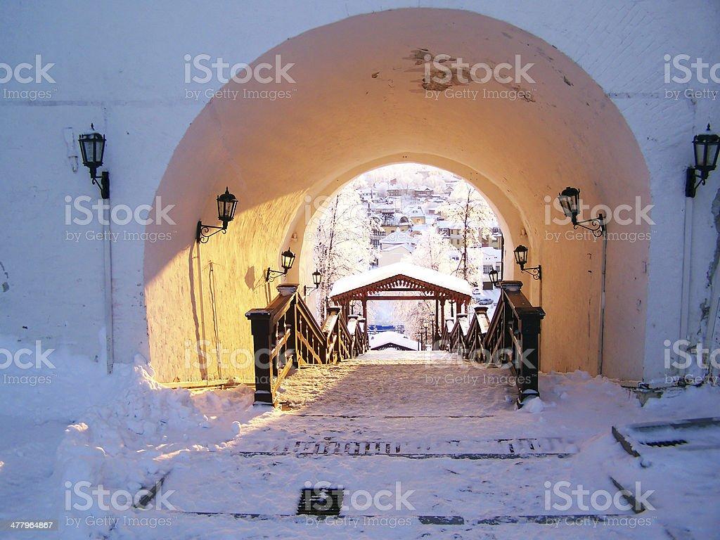 Tobolsk Kremlin. View of the Sofia vzvoz. royalty-free stock photo