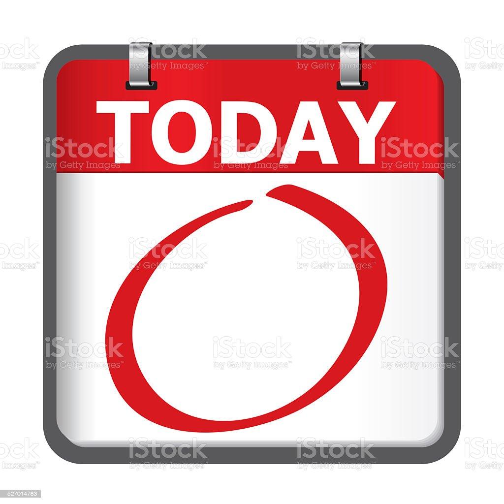 Today calendar stock photo