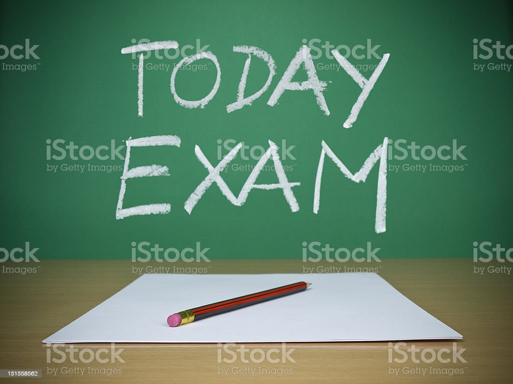 Today exam royalty-free stock photo