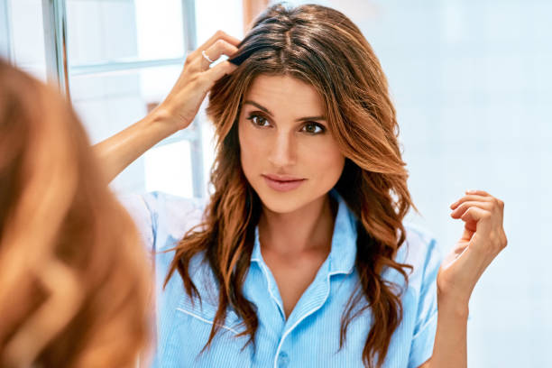 Today I will have a good hair day stock photo