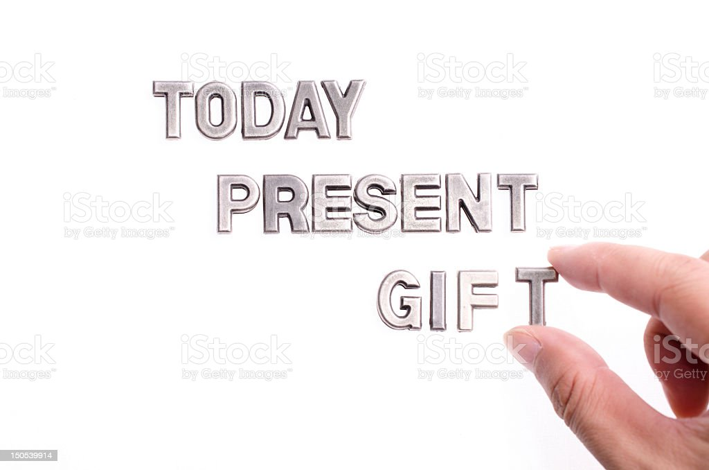 today is a gift royalty-free stock photo