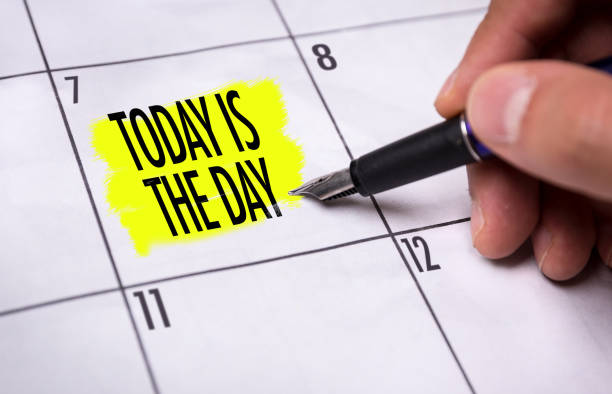 today is the day - monday motivation stock photos and pictures