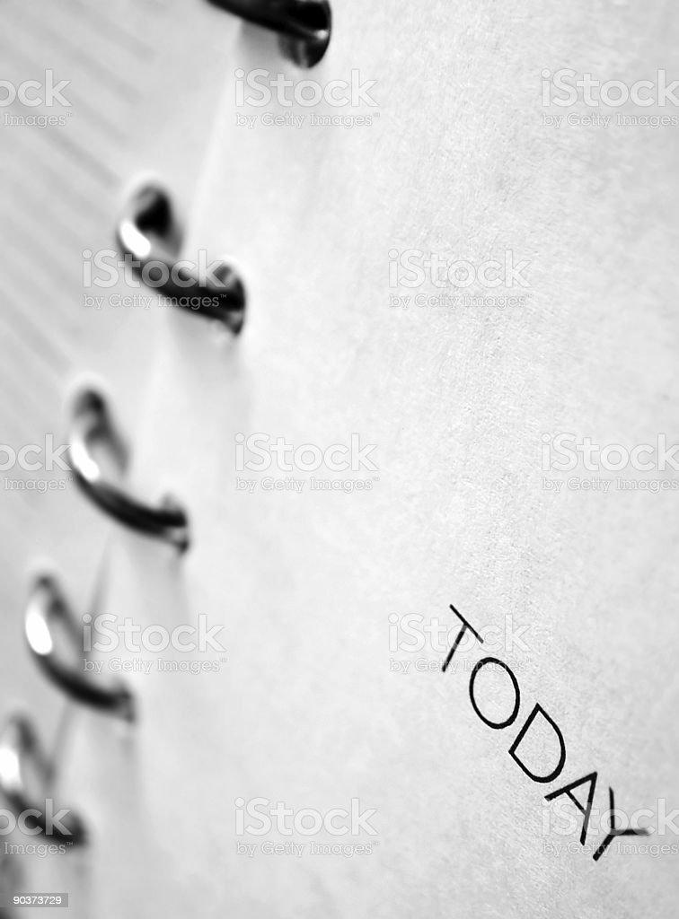 Today organizer royalty-free stock photo