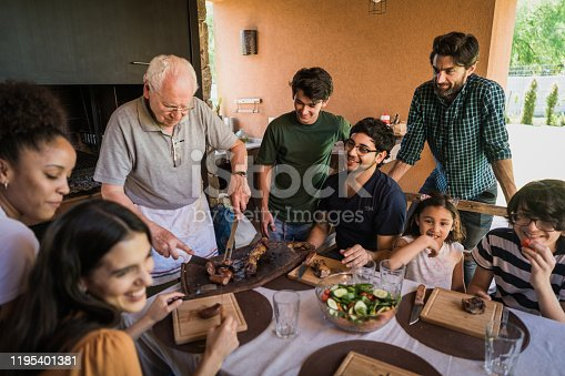1196170672istockphoto Today our cheef is grandpa 1195401381
