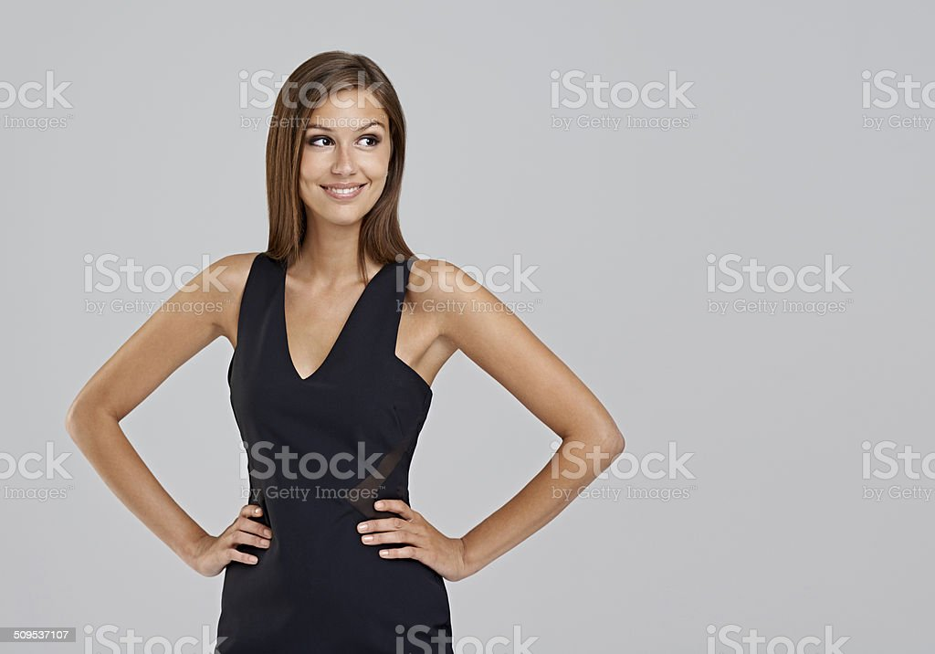 Today she can take on anything stock photo