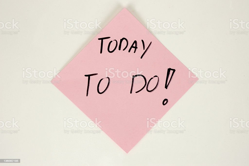 Today to do! royalty-free stock photo