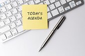 istock Today's agenda text on sticky note 1250516851