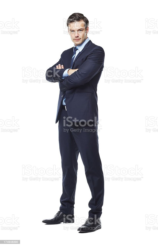 Today's business needs a stern hand stock photo