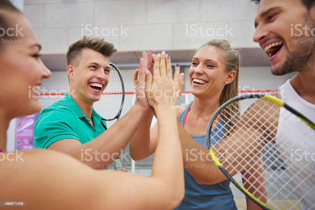 Today's game was really good stock photo