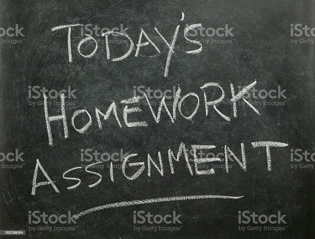 Today's Homework Assignment royalty-free stock photo