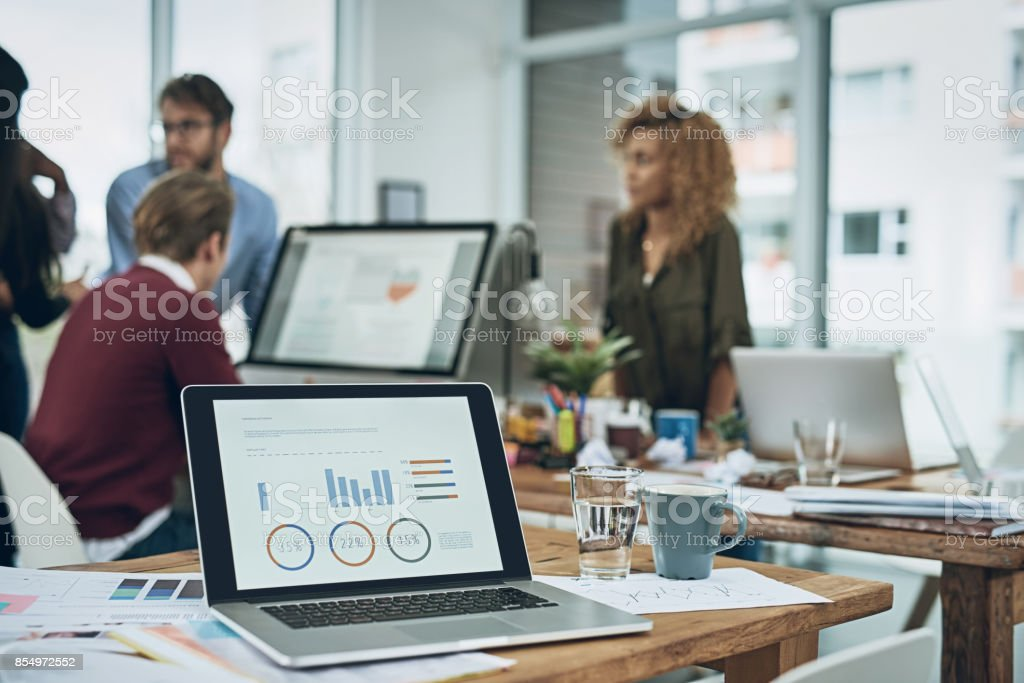 Today's meeting has finance in focus stock photo