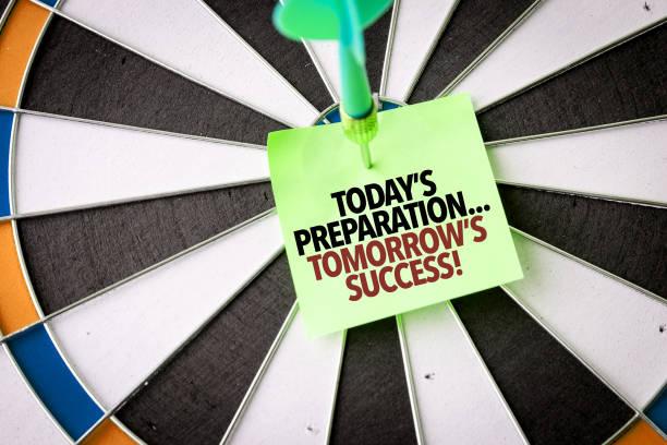 Preparación de hoy... ¡Éxito futuro! - foto de stock