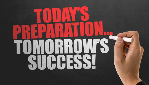 today's preparation... tomorrow's success! - preparation stock pictures, royalty-free photos & images