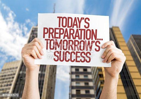 istock Today's Preparation... Tomorrow's Success! 811400570