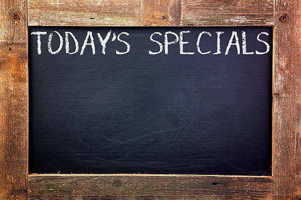 Today's Specials Chalkboard stock photo