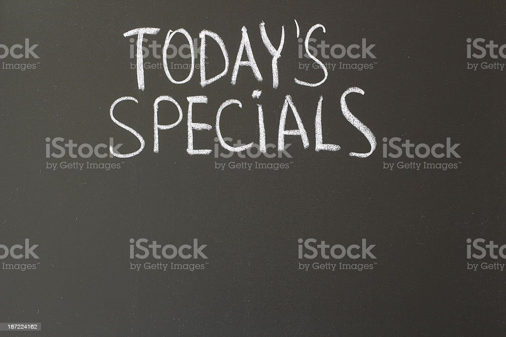 today's specials royalty-free stock photo