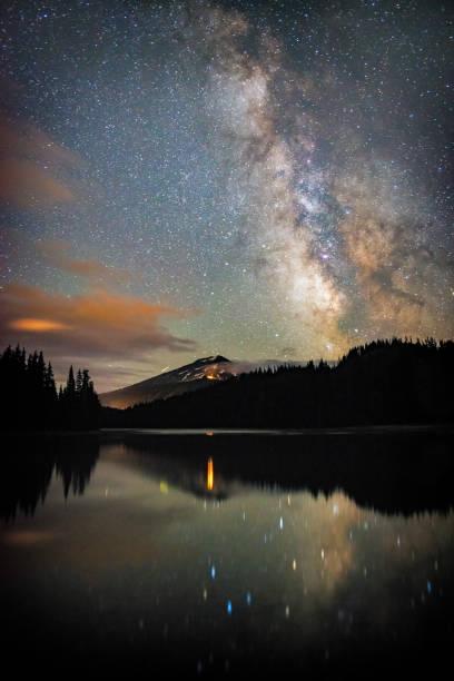 Todd Lake Milkyway stock photo