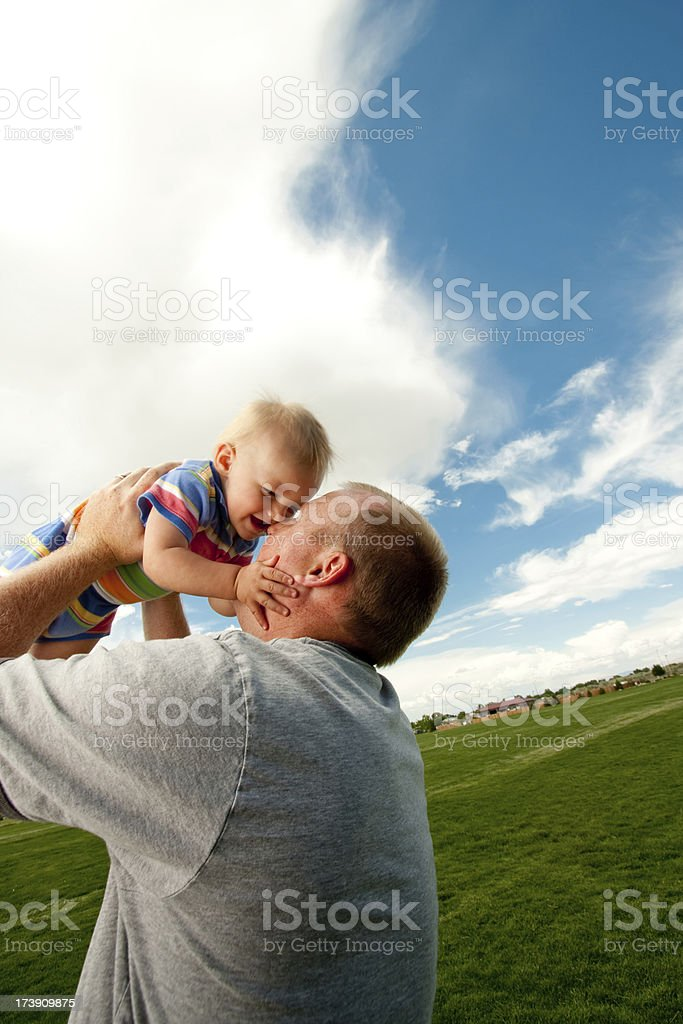 Toddler and Dad royalty-free stock photo