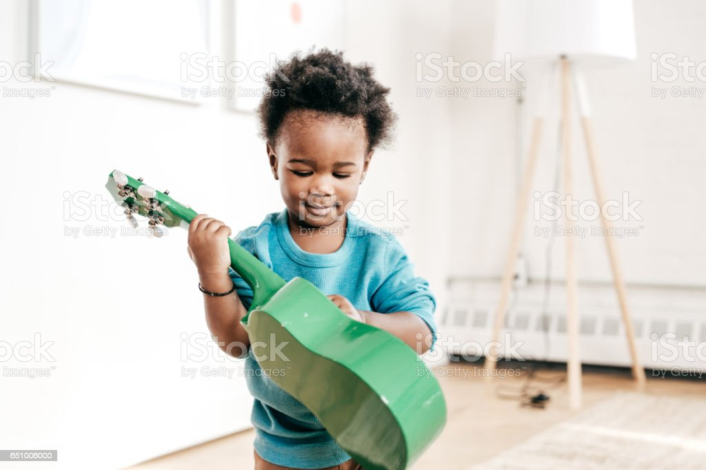 Toddler and music education stock photo
