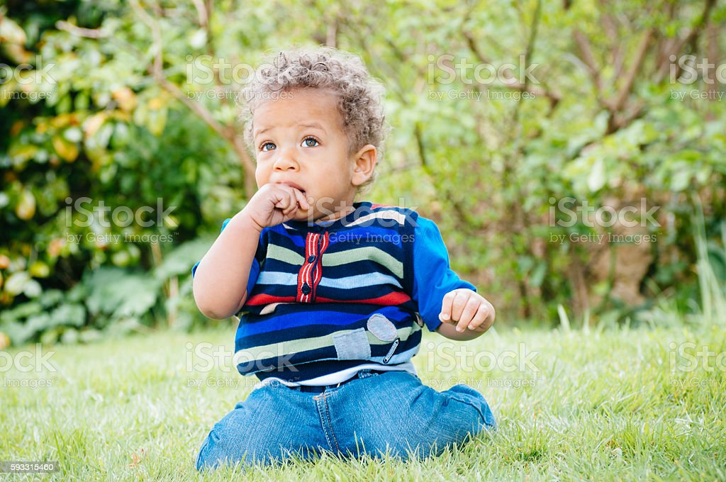 Toddler/ Baby in the Park stock photo