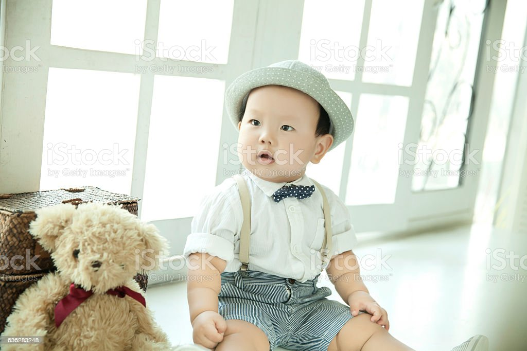 Toddler  baby Toddler  baby 12-23 Months Stock Photo