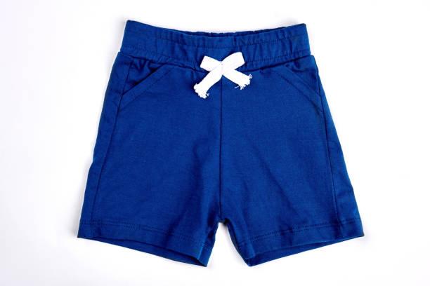 Toddler boy shorts isolated on white. stock photo