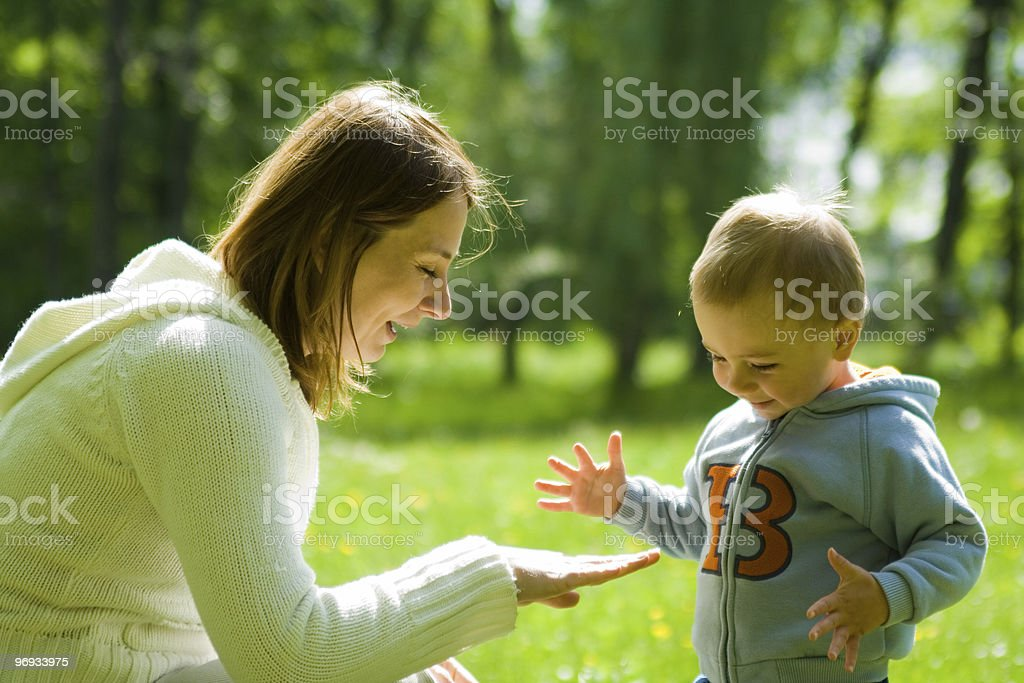 Toddler Child with Mother royalty-free stock photo