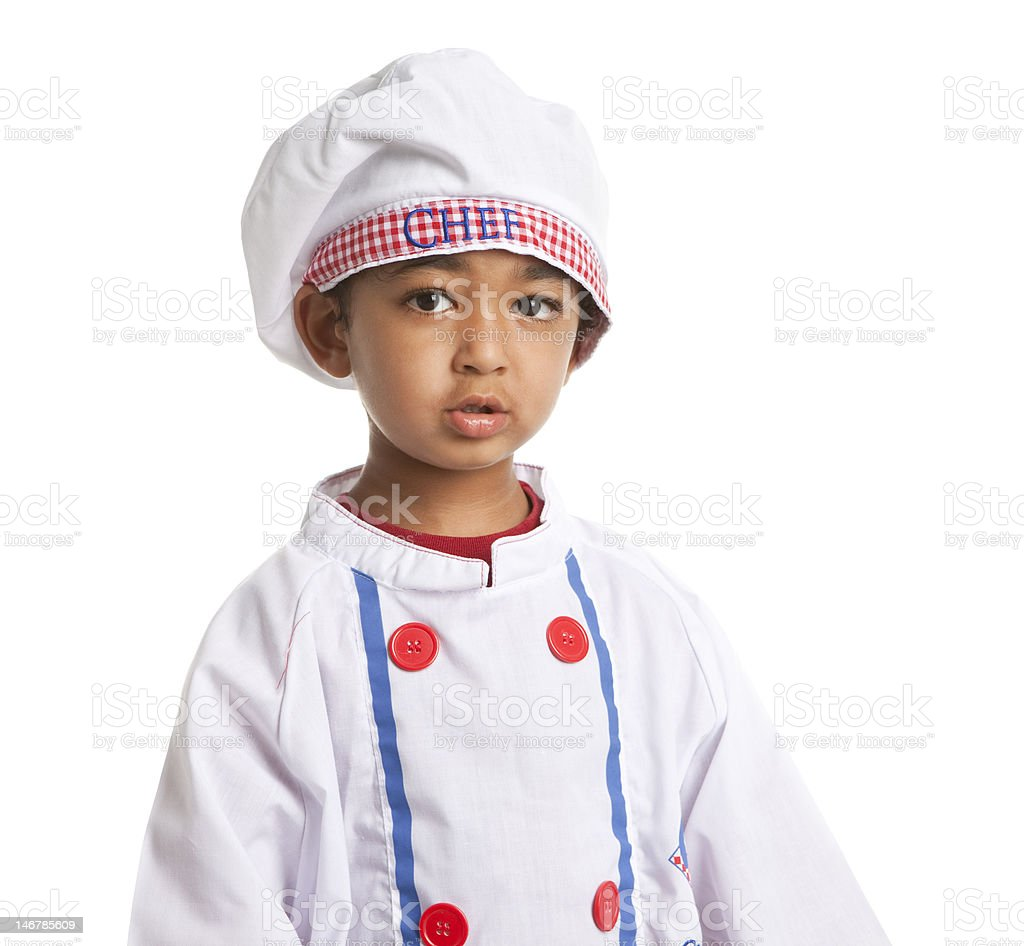 Toddler dressed as a Chef stock photo