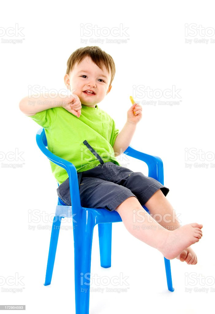 Toddler eating cheese royalty-free stock photo