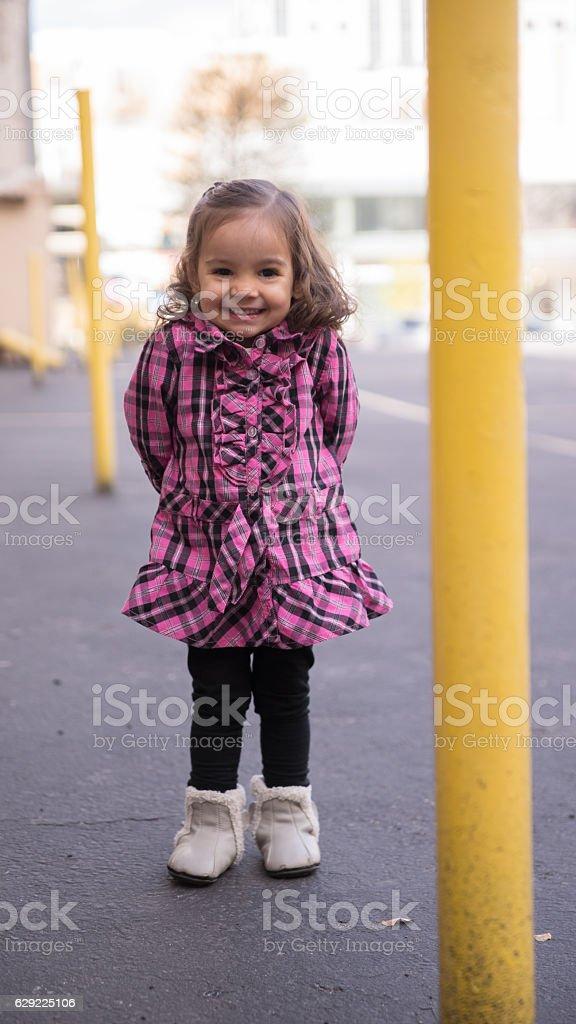 Toddler Girl Smiling stock photo