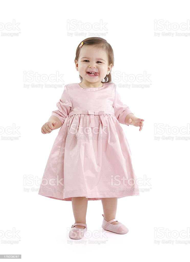 Toddler Girl Standing royalty-free stock photo