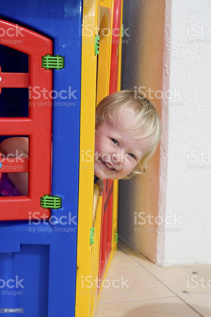 toddler house royalty-free stock photo