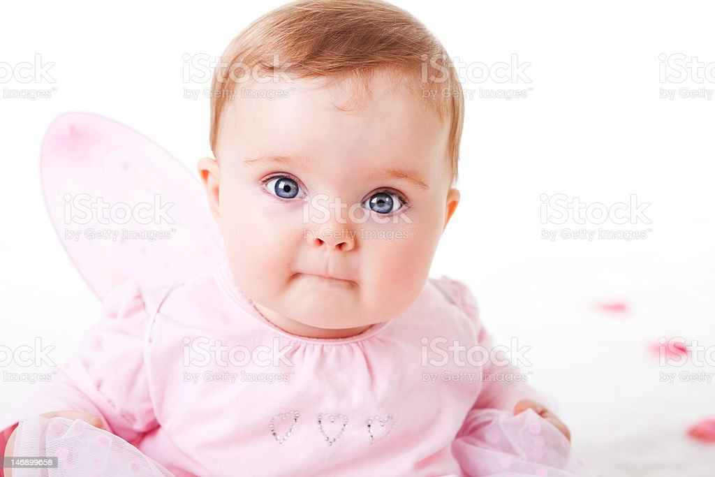 Toddler in a Fairy Outfit royalty-free stock photo